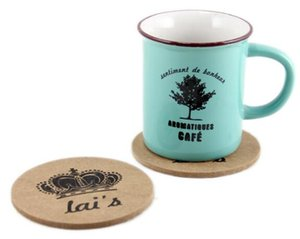 Nouveau tapis en bois de liège / Cup Coaster / tapis de tapis de thé / ménages de nouveauté Table Pot Coaster Crochet WA1434