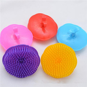 2017Shampoo Massage Brush Shampoo Shower Scalp Head Brush Shampoo Dedicated Plastic Comb Hair Care Massager Brush Washing Hair Massage Comb