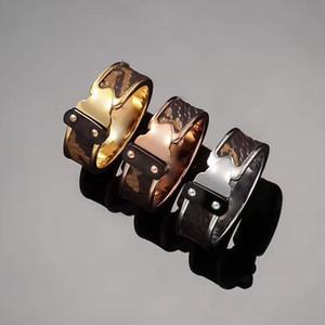 Jóias de aço de titânio atacado Two nail stick arrow padrão anel de couro 18 k rose gold couple anel Leitura buddhist monastic disciplina
