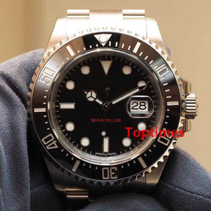 Uhrkeramik 43mm RED SEA-DWELLER Stanless Steel Automatic Herren Luxus Saphirglas Armbanduhren Qualitätsuhren