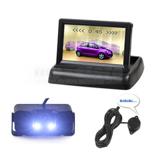 4.3inch Car Reversing Camera Kit 자동차 모니터 LCD 디스플레이 주차 레이다 센서 2 in 1 Car Camera Parking System