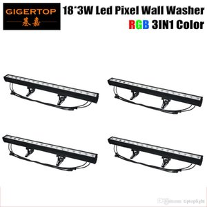 Guangzhou TIPTOP LED Pixel Light arandela de la pared 18 * 3W mezcla de colores RGB Cada LED puede ser controlada por separado DMX Pixel LED Long Bar