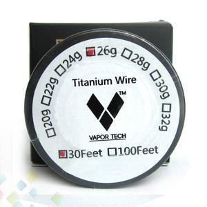 Buharlaştırıcı Titanyum Tel Sıcaklık Kontrolü mod TA1 Titanyum Tel 26g 28g 30g Buhar Tech 30 Ayaklar Titanyum Isıtma Tel Direnci DHL ücretsiz