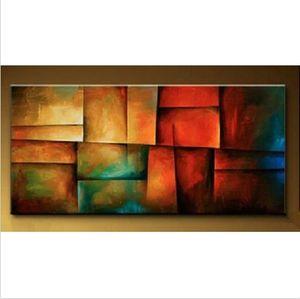 Обрамленная чистая ручная роспись современная абстрактная живопись маслом на холсте высокого качества для домашнего декора стен