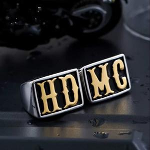 NOUVELLE arrivée en acier inoxydable biker HD MC bague hip hop bijoux pour livraison gratuite