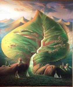 Gerahmte Vladimir Kush, Ocean Sprouts, hochwertige reine handbemalte berühmte abstrakte Kunst Ölgemälde auf Leinwand Multi Größen Ab189