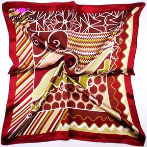 Offre spéciale Variété Magic Silk Scarf 60 * 60 cm Écharpes Pour Filles Femmes Buns Sacs À Main Vêtements Papillon Bars