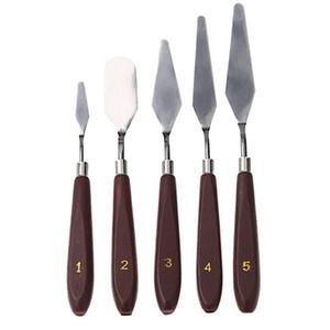 5 adet / takım Paslanmaz Çelik Sanatçı Boyama Palet Bıçağı Spatula Yağlıboya Bıçakları Boya Sanatçı El Sanatları Boyama Kiti Kazıyıcı