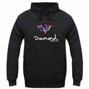 Diamond supply co uomo felpa donna street fleece caldo felpa inverno autunno moda hip hop primitivo pullover