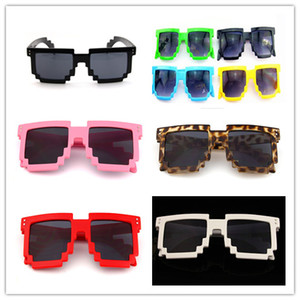 Eyeware خمر الأطفال نظارات 8 بت بكسل للبنين والبنات النظارات خمر الإناث الذكور فسيفساء نظارات شمس الاطفال uv400