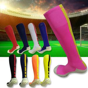 Calze da calcio per uomo adulto antiscivolo Sport Calcio Calzature lunghe Scaldamuscoli invernali per donna Poliestere addensare Sport Chaussette Asciugamano inferiore