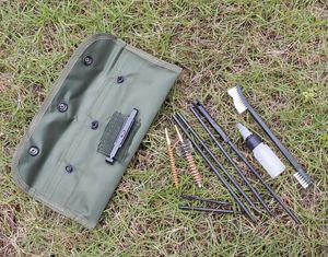 10PCS AR15 M16 M4 pistola kit di pulizia Airsoft Shotgun Pistol Cleanner per 5,56 millimetri .223 22LR .22 Cal tattico della pistola del fucile Pennelli Set