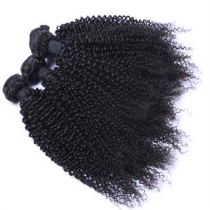 Extensiones de cabello humano 100% sin procesar El cabello humano brasileño rizado rizado teje 3 paquetes de armadura brasileña del cabello humano