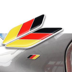 2X Universal Auto Car Fender Parte 3D Germania DE Deutschland Nazione Bandiera Emblema Badge Sticker Decal Trim