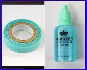1 botella de 30 ml removedor de adhesivo para el cabello cinta de la piel / extensiones de cabello de trama piel PU y azul pegamento cinta