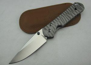 Chris Reeve. CR Dasha Clásico 21 D2 (titanio de acero corrugado) navaja de bolsillo cuchilla de lavado a la piedra cuchillo de caza Supervivencia Herramientas regalo ADNB