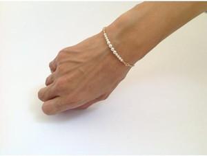 Pulseiras jóias mulheres menina simples estilo agradável Handmade Pérola ouro talão pulseira cadeia Bangle Beading pérolas Chains Bracelet Jóias