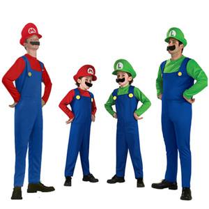50 Takım Ucuz Cadılar Bayramı Cosplay Kostümleri Süper Mario Luigi Kardeşler Fantezi Giydir Parti Sevimli Kostüm Yetişkin Ço ...