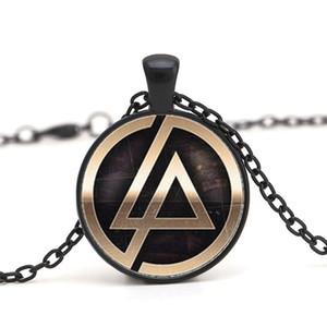 Linkin park Logo Cam Zincir Kolye Çinko Alaşım Lincoln Parklar Kolye Takı Kolye Dome Kolye Erkekler Ve Çocuk Parti Hediyeler Gerdanlık