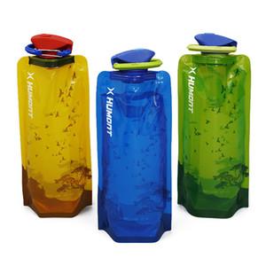 Novo Saco de Água 700 ML Portátil Dobrável Sports Water Bag OutdoorClimbing Dobrável Esportes Garrafa De Água Com Pothook