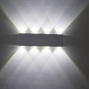 Lámparas de pared de aluminio LED simple modernas 12W Iluminación de pared LED de aluminio AC85V-265V Envío gratis Decoración moderna Luz de iluminación interior