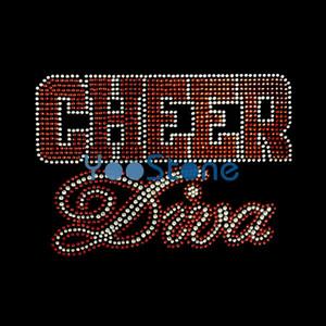 Cheer Diva Rhinestone Transfert Fer Sur Applique Hot Fix Motif Fixe