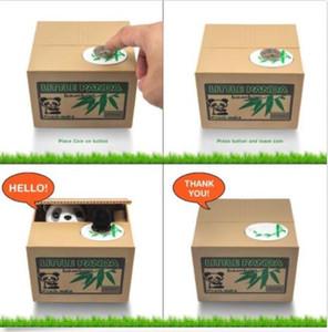 Nouvel argent mignon panda automatisé ou chat voler des pièces tirelire Itazura boîte d'économie d'argent livraison gratuite