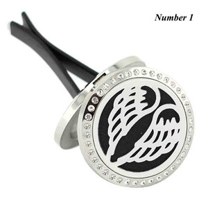 New Car Perfume Locket (30mm) Magnetic Diffuser 316 Stainless Steel Car Aromatherapy Locket Essential Oil Diffuser Lockets with crystals