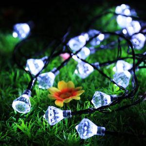 Edison2011 30 LEDs Diamante Solar LED String Lâmpada de Iluminação Ao Ar Livre Diamante de Fadas À Prova D 'Água de Natal Lâmpadas Solares Jardim Decoração de Casa