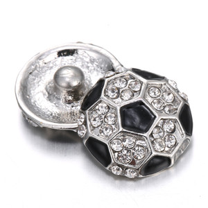 12 pcs2017 хит 18 мм оснастки кнопку очарование футбол мода ювелирные изделия, ожерелье, браслет как лучший подарок