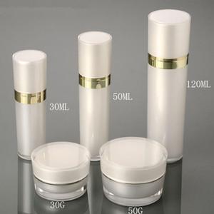 30ml 50ml 120ml Acryl Leere Sprayer Lotion Pumpe Parfümflasche Nachfüllbare Lotion Duftbehälter Flaschen 15g 30g 50g Cremetopf