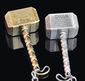 100PCS The Avengers Thor Hammer Portachiavi portachiavi ciondolo portachiavi ciondolo portachiavi in metallo per uomo