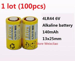 100 pcs 1 lote 4LR44 476A 4A76 A544 V4034PX PX28A L1325 6 V bateria alcalina seca de 6 Volts de Baterias Frete Grátis