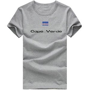 Cape Verde T shirt Outdoor sport short sleeve Smart tees Nation flag clothing Unisex cotton Tshirt