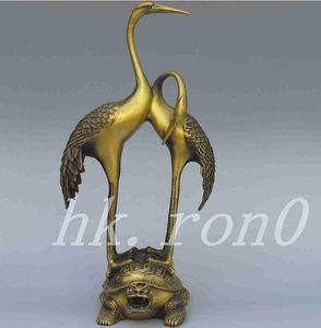 Разработать китайский классический античный латунный дракон черепаха краны статуя