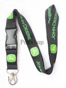 Автомобильный ветер JOHN DEERE Lanyard Keychain Key Chain ID Значок держателя мобильного телефона Шейный ремешок черный и зеленый