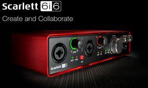 Nueva interfaz de audio Focusrite Scarlett 6i6II 6 entradas / 6 salidas USB 2.0 con dos preamplificadores de micrófono Focusrite Tarjeta de sonido profesional para grabación