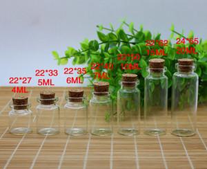 Großhandelspreis 3 ML / 4 ML / 5 ML / 6 ML / 7 ML / 10 ML / 15 ML / 20 ML / Klarglas Treiben Flaschen mit holz Kork Kostenloser Versand