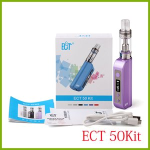 100% original ECT e cigarette 50W ECT50 box mod 2200mah starter kit 2.5ml kenjoy vot mini vaporizer 18650 et50 battery low resistance