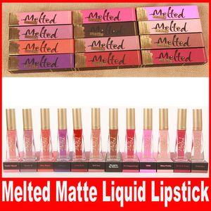 새로운 브랜드 Melted Makeup Fused Melted 립글로스 섹시한 메이크업 Melted Matte Liquified Long-Wear 매트 립스틱 12 색.
