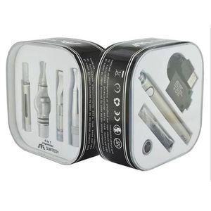 4 in 1 evod 650mah&900mah&1100mah battery Electonic cigarette Multi vape Vaporizer Starter Kit with MT3 CE3 SKILLET Glass globe atomizer
