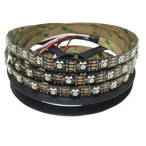 DC 5V WS 2812 LED 스트립 60 led / m IC WS2812 블랙 PCB NO 방수 IP20 꿈 다채로운 LED 조명 SMD5050 칩 유연한
