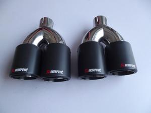 Inlet51 / 54/57/60 / 63mm outlet89 / 101 / 114mm for ak AKRAPOVIC ألياف الكربون العادم تلميح