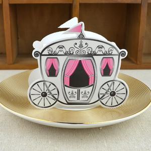 """""""Enchanted Carriage"""" cuento de hadas de papel temático favor caja / cajas de la boda Cinderella calabaza carro cajas de dulces DHL envío gratis"""