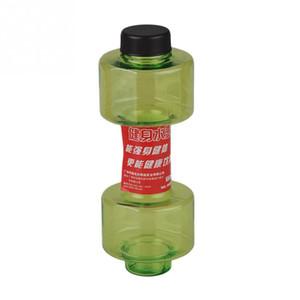 Toptan-550 ml Kişiselleştirilmiş Dambıl Fincan Spor Su Şişesi Plastik Bardak Mühürlü Sızdırmaz Fitness Spor Şişe Için Uygun