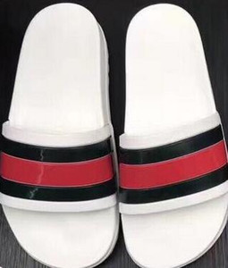 2017 NUOVA Europa Marchio di Moda sandali mensstriped causale antiscivolo estate huaraches pantofole infradito pantofola MIGLIORE QUALITÀ