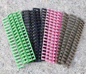 Cubiertas de goma para riel de escalera Picatinny de 7 pulgadas, negro / bronce / verde / rosa (paquete de 4) Envío gratuito