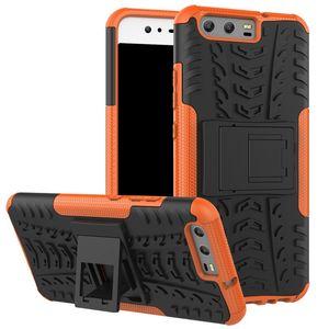 Huawei P10 P10 플러스 2 in 1 neo 하이브리드 내충격 헤비 듀티 커버 P10 Lite P8 Lite 2017 케이스 용 10pcs 아머 케이스