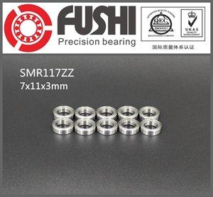 SMR117ZZ ABEC-1 (10PCS) 7X11X3 mm in miniatura acciaio inox SMR117 ZZ cuscinetti a sfere SMR117 ZZ 7 * 11 * 3 MM