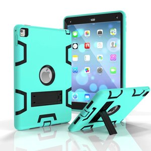 Un type robuste Robot Kickstand Hybrid Case Cover Robot pour iPad Pro 9.7 Pro 10.5 iPad 2 3 4 air 1 air 2 10pcs / lot